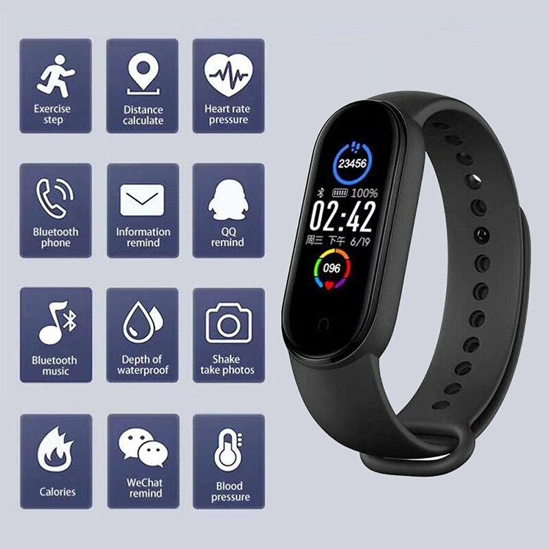 Смарт-часы M5/M4 для мужчин и женщин, спортивный фитнес-браслет с тонометром, пульсометром, для Android и IOS