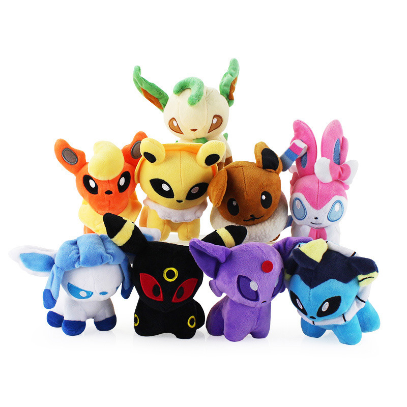 Cartoon Plush Toys 9 styles Eevee 5'' Soft Stuffed Animals Dolls
