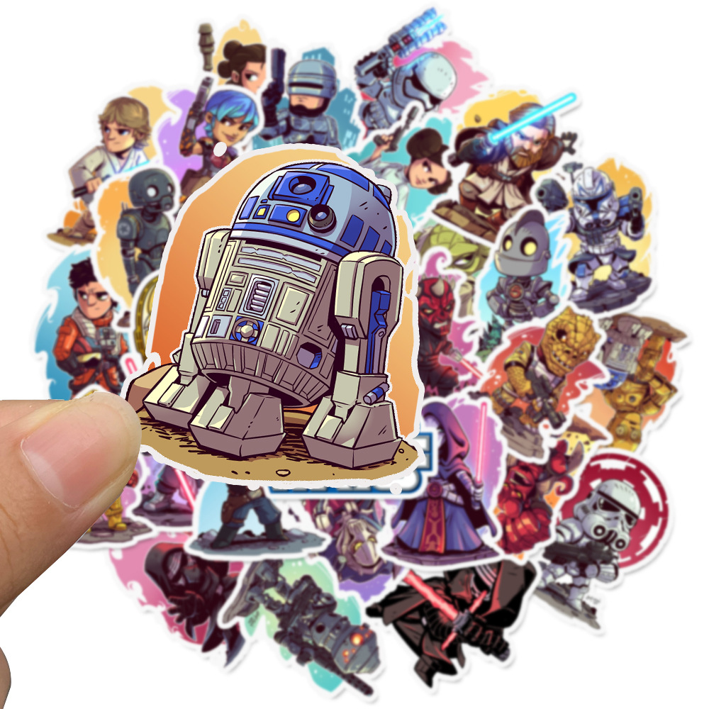 108pcs/pack Star Wars Stickers For Kids Computer PS4 On Laptop TV Fridge Bicycle Waterproof Decal Anime Sticker
