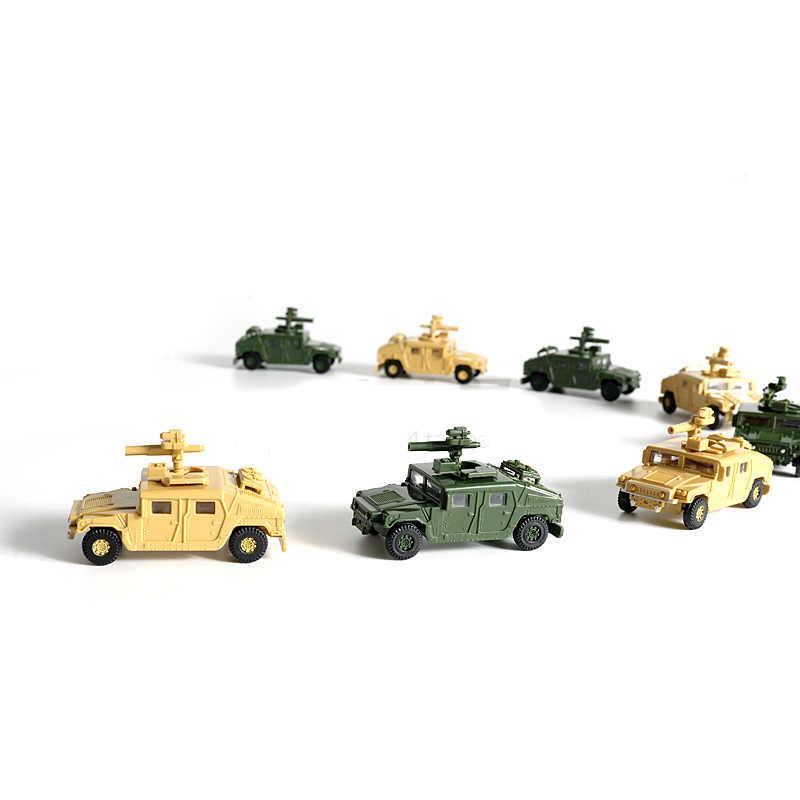 1:72 4D Hummer Rudal Petir Truk Bebas Lem Merakit Model Militer Anak Mainan Anak Hadiah