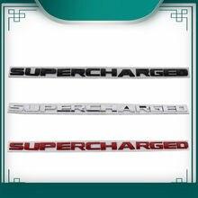 3d supercharged para range rover sport carro fender lado tronco placa de identificação decalque emblema adesivo