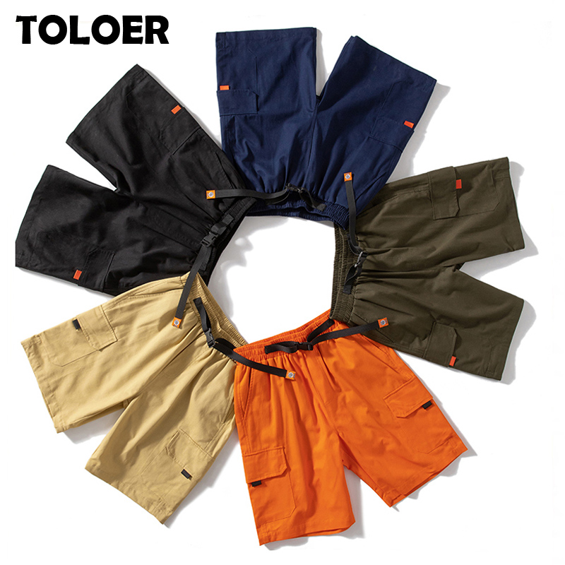 Men Multi-Pocket Cargo Shorts Summer Male Fashion High Quality Streetwear Joggers Shorts Men Hip Hop Casual Tactical Short Pants