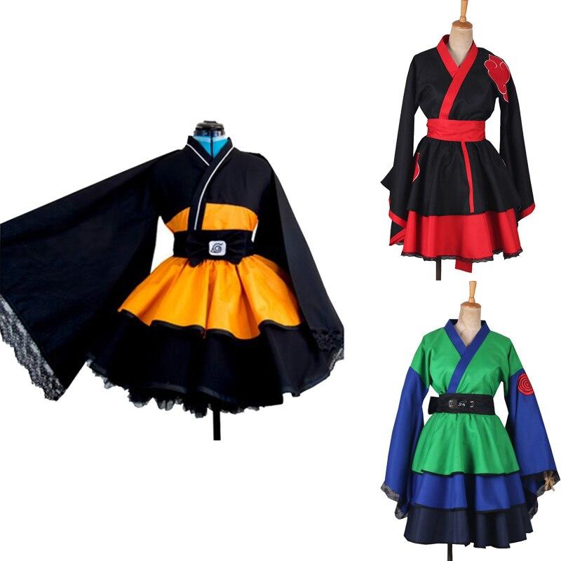 Shippuden Uzumaki Akatsuki hajime hinata Cosplay Kostüm Kimono Weibliche Lolita Kleid Anzüge Frauen Mädchen Halloween