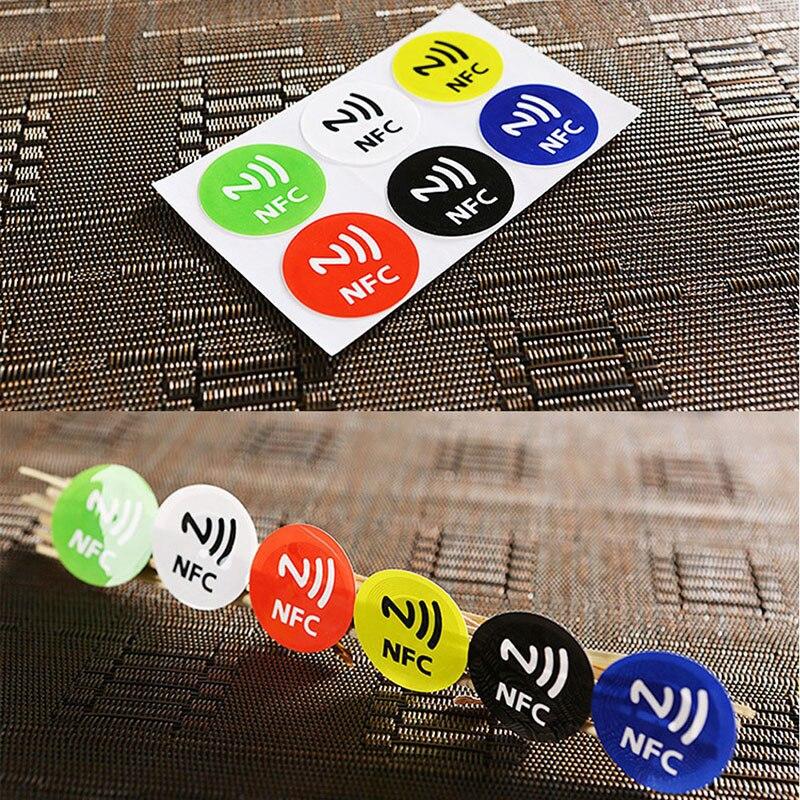6 шт Водонепроницаемый ПЭТ Материал NFC наклеек Смарт Ntag213 теги для всех телефонов
