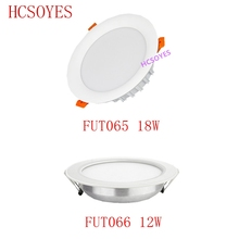 milight FUT065 FUT066 /12W 18W LED Downlight RGB+CCT AC110 220V Brightness Adjustable Wireless WIFI APP Control AC100 240V