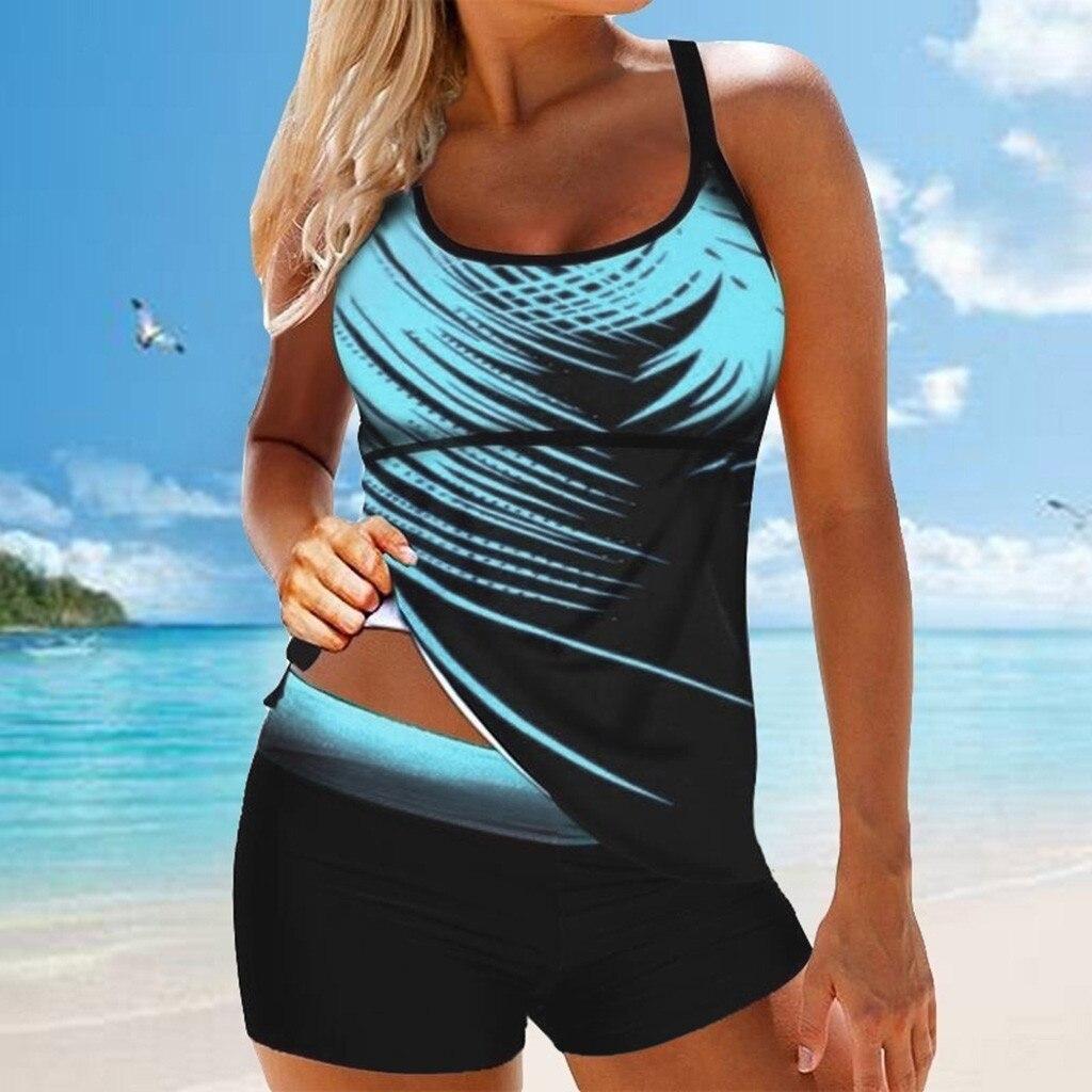 S-5XL feminino senhoras maiô plus size impressão tankini swimjupmsuit maiô beachwear acolchoado biquinis feminino 2020