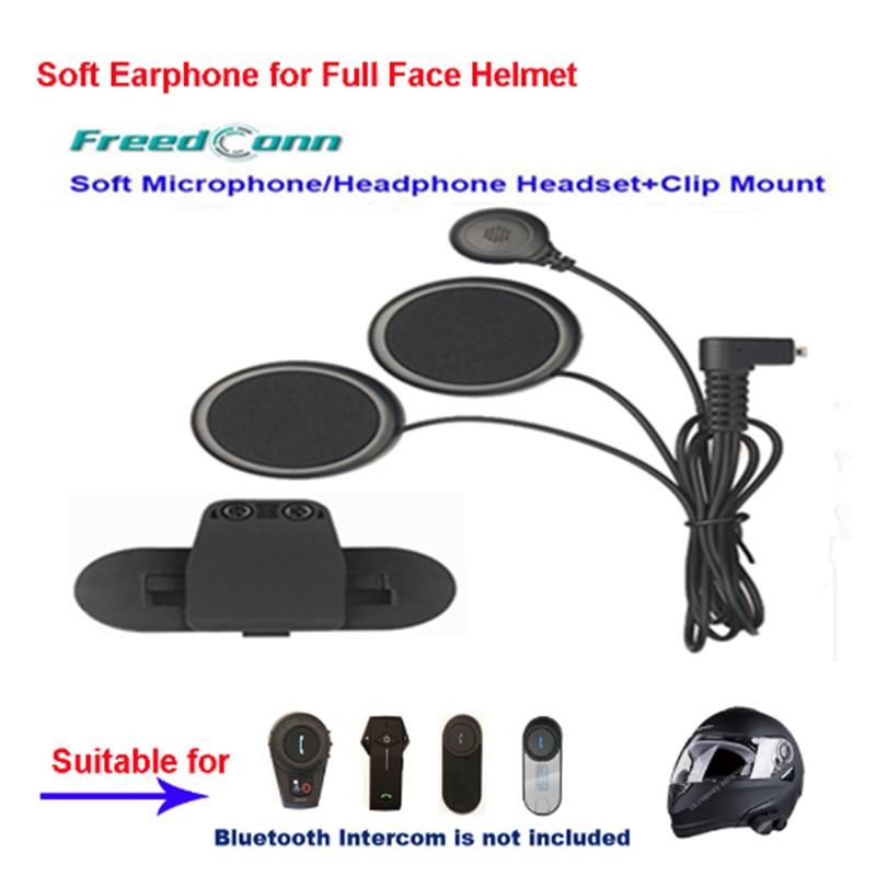 Freedconn Motorrad Intercom Zubehör Weiche Kopfhörer Ohrhörer & MIC für FDCVB T-COMVB TCOM-SC COLO T-REX Moto Helm + Clip Montieren