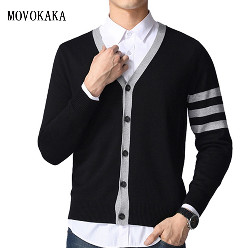 New Fashion Brand Sweater For Mens Stripe Cardigan Slim Fit Sweater Knitwear Warm Autumn Winter Korean Style Casual Clothing Men