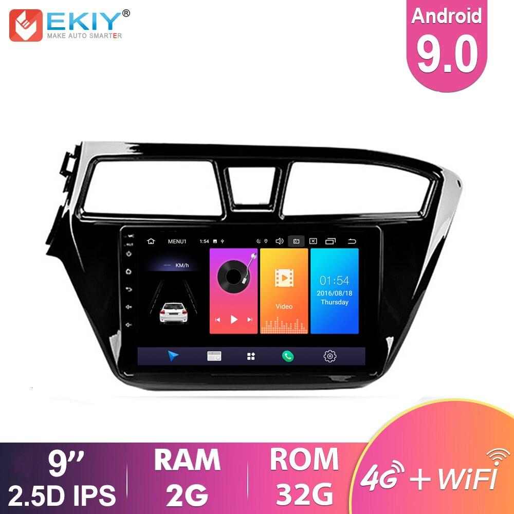 EKIY 4G 9 ''IPS Android 9,0 автомобильное радио для HYUNDAI i20 2014-2015 Мультимедиа Видео плеер навигация GPS No 2 Din стерео головное устройство