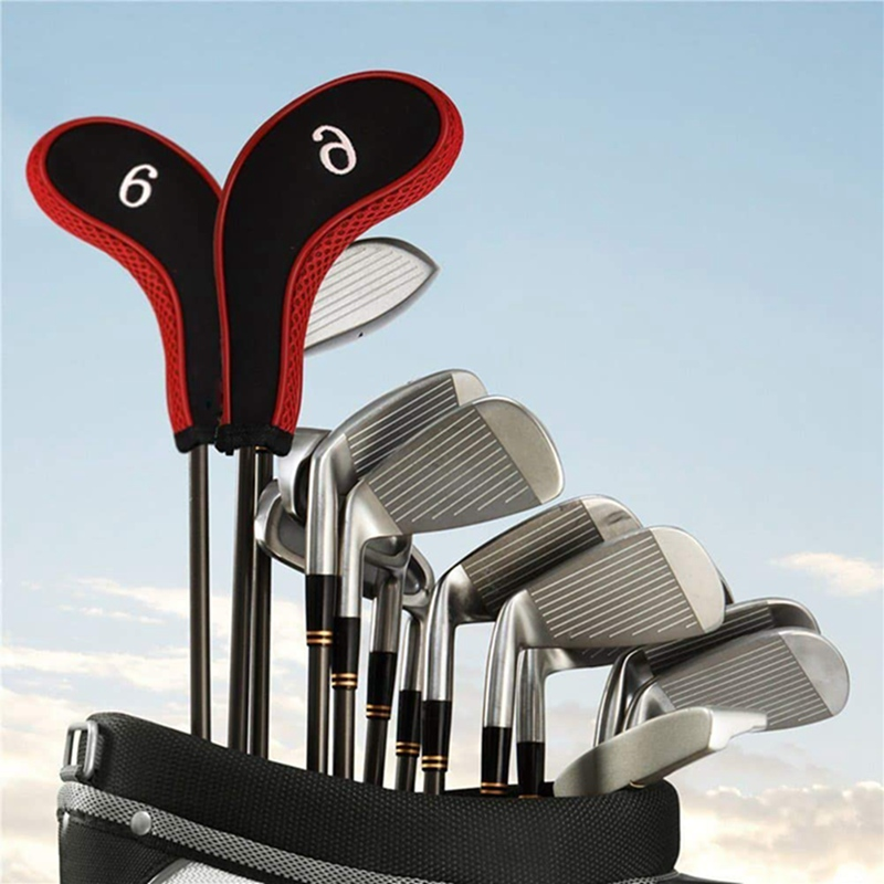 10 Pcs Golf Stick Head Cover Golf Accessories Set For Outdoor Sports Multi-color