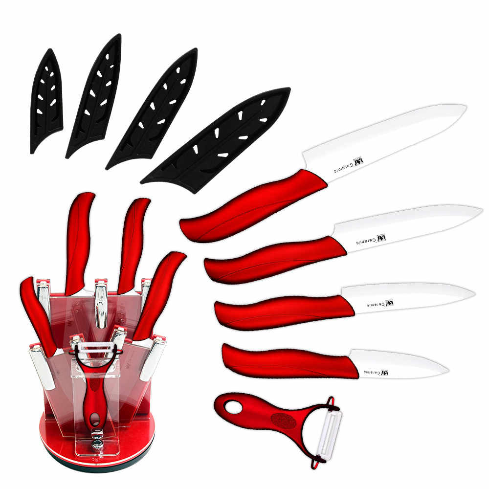سكين من السيراميك حامل حامل كتلة تخزين هدايا يغطي المطبخ الشيف فائدة Slicer تقطيع السكاكين طقم تقشير أداة الطبخ القاطع
