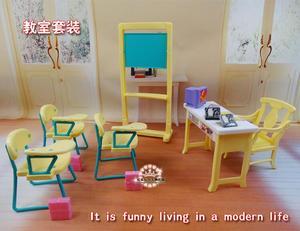 Подлинная для принцессы класс Барби школьный стол Учительская мебель 1/6 bjd кукла аксессуары набор Детская игрушка подарок