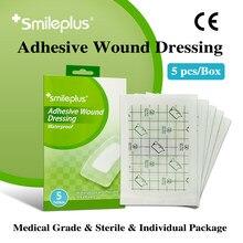 Smileplus – pansement adhésif, CE, grande surface, respirant, Flexible, absorbe, étanche, hypoallergénique, bande d'aide, 7x10 cm