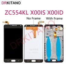 """DRKITANO ASUS Zenfone 4 Max için ZC554KL LCD ekran X00IS X00ID dokunmatik ekran için çerçeve ile 5.5 """"ASUS ZC554KL LCD ile çerçeve"""