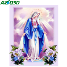 AZQSD Full Drill Diamond Painting Religious Embroidery Icons Picture Of Rhinestones Gift Needlework Home Decoration