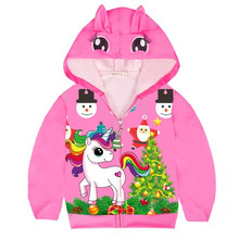 Kids Girls Cartoon Jackets Toddler Outerwear Hoodies Coats Unicorn Baby Girls Hoodies Cotton Jacket Coat Children Clothes цена 2017