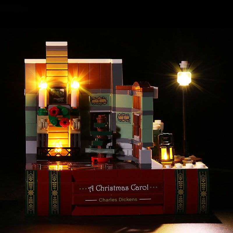 Led Light kit for Lego Holiday Charles Dickens Tribute a Christmas Carol Exclusive 40410(LED Included Only)