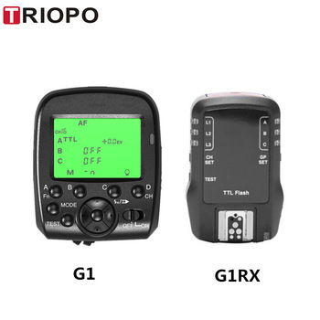 TRIOPO G1 / G1RX dual TTL wireless trigger dengan layar lebar LCD display 1 / 8000s HSS 2.4G wireless transmission 16 saluran