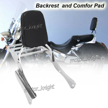Rear Luggage Rack Support Backrest Sissy Bar Passenger Seat Backrest for Honda Shadow Slasher400 (NC40)VT400/750 Spirit VT750DC