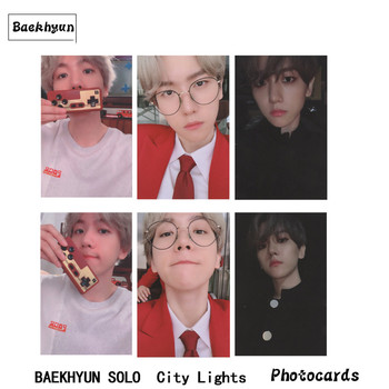 EXO Baekhyun Autograph Photocard Solo City Lights Paper Photo Card Collective Photograph
