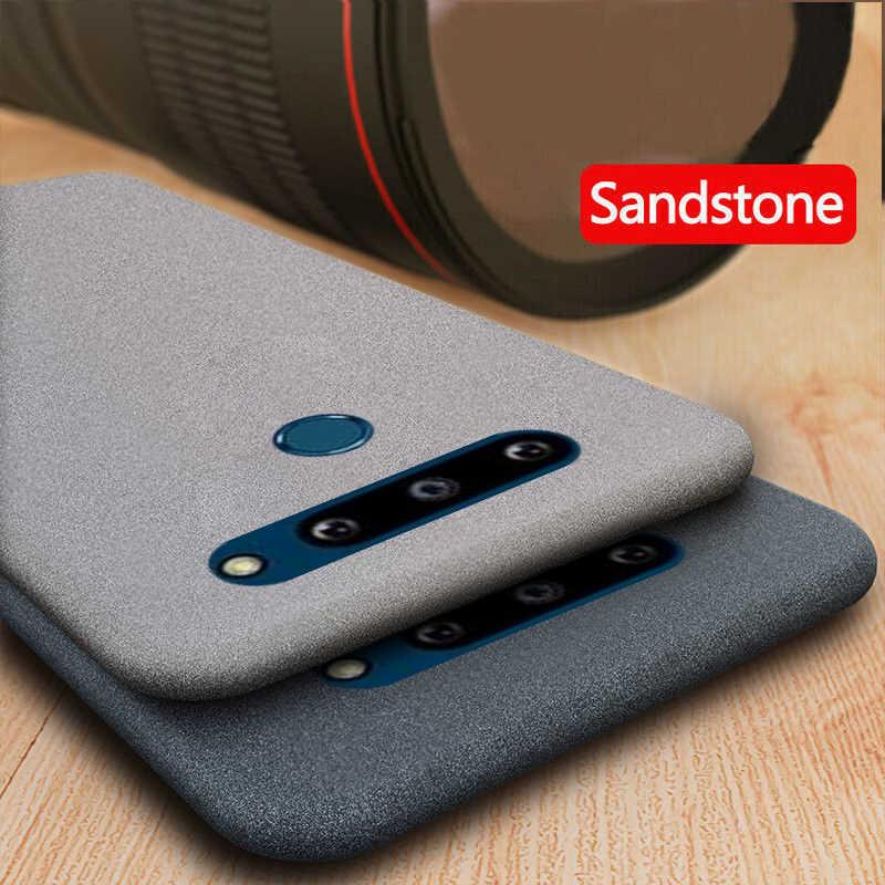 YISHANGOUสำหรับLG G8X ThinQ G8 G5 G6 G7 V30 V40 K40 Slim SoftซิลิโคนSandstone Matte UltraบางTPU Cover 2กล้อง