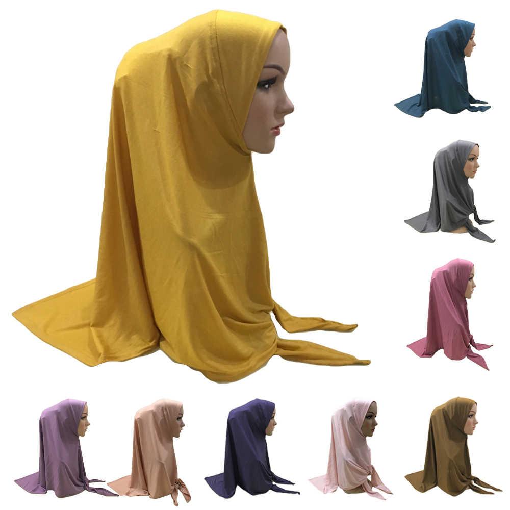 Ramadan Women Hijab Scarf Tunban Cover Hat Amira Headwrap Shawl Scarves Headwear