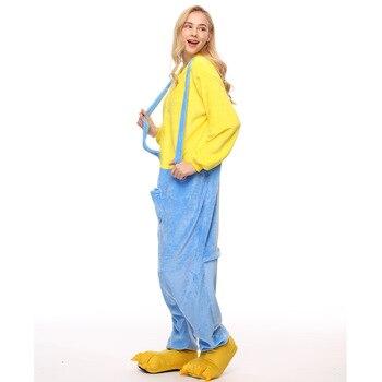 أزياء الهالويين التأثيرية التوابع للكبار من Kigurumi موضة 2019 ملابس نسائية من الفلانيل بدلة للجسم بدلة نوم للنساء مع قلنسوة