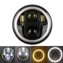 """5.75 """"zoll Runde LED Scheinwerfer mit Halo Ring DRL Bernstein Blinker Für Honda Shadow VT 600 700 750 1100 VTX 1300 1800"""