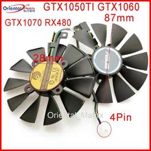 Free Shipping Original PLD09210S12HH 12V 0.4A 87mm VGA Fan For ASUS GTX1050TI GTX1060 GTX1070 RX480 Graphics Card Cooling Fan цена и фото