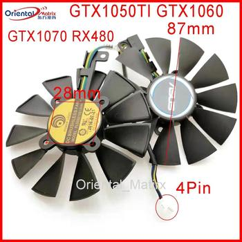 Free Shipping PLD09210S12HH 12V 0.4A 87mm VGA Fan For ASUS GTX1050TI GTX1060 GTX1070 RX480 Graphics Card Cooling Fan 100% working for asus graphics card g75vw video card vga card gtx 660m gtx660m 2gb ddr5 n13e ge a2 free shipping