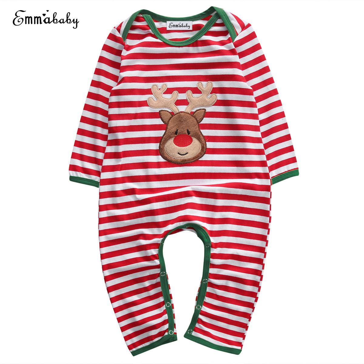 Emmababy Unisex Newborn Infant Baby Boy Girls Clothes Pajamas Playsuit   Romper   Pullover Cute Baby Costume Outfit Christmas Gift