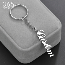 Custom Name Circle Heart Shape Keychain Handmade Personalized Anti-lost Phone Number Nameplate Key Chain Women Men Birthday Gift