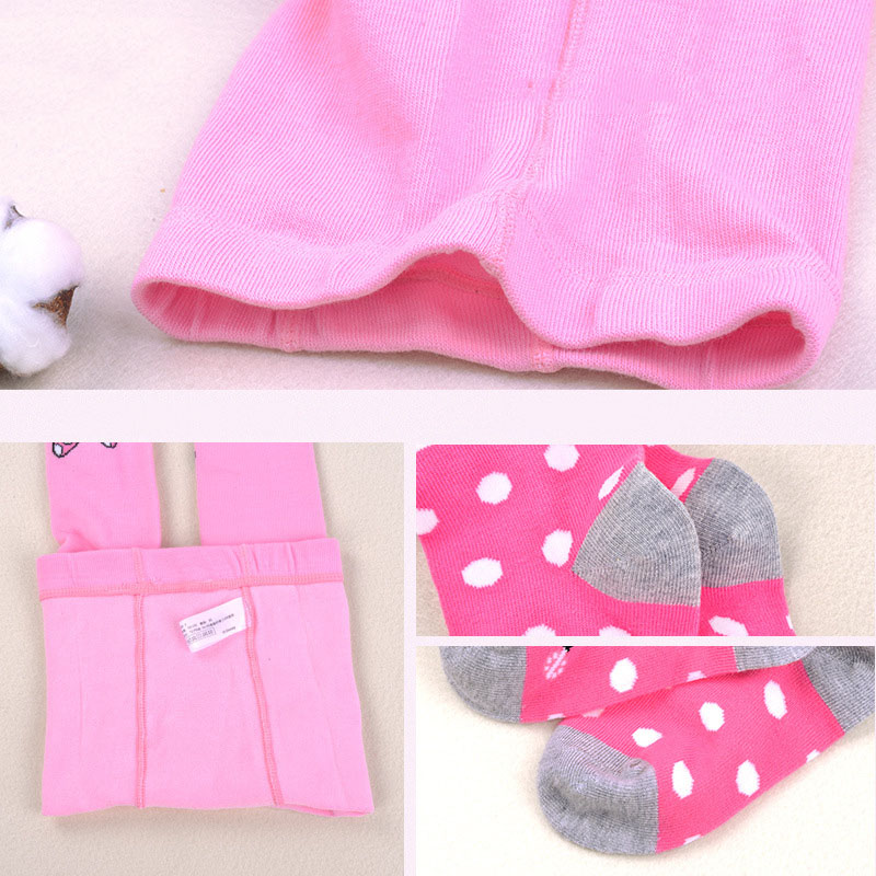 Disney Mickey Mouse Pattern Tights For Girls Cute Pink Cotton Knitted Pantyhose Stockings For Babys Infant Tights For 2-10Y New 6