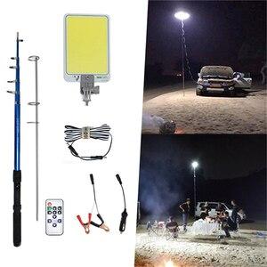 Portátil holofote Lanterna recargable LEVOU Estrada viagem Barraca de Acampamento ao ar livre Luz 4.5m haste telescópica de Reparação de emergência lâmpada