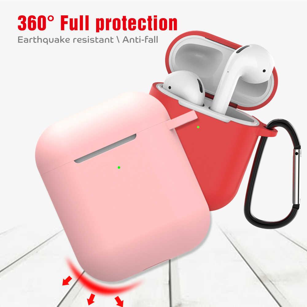 Dành Cho Tai Nghe Airpods 2 Ốp Lưng Không Vỏ Ốp Lưng Silicon Tai Nghe Không Dây Bluetooth Cho I10 I11 I12 I800 I18 I1000 I140 I180 i200 I300