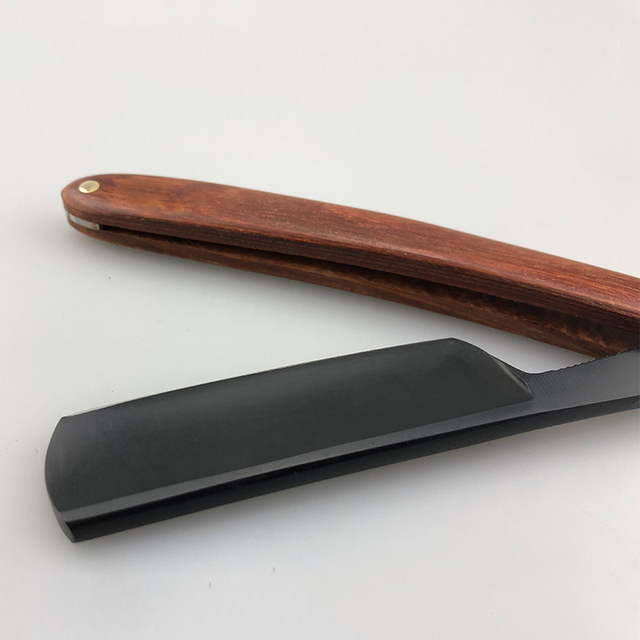 Red Sour Skill Wooden Handle Razor Hairdressing Knife Retro Razor Hair Knife Repair Face G1106 4