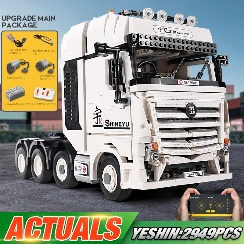 Yeshin <font><b>Technic</b></font> Car Model The <font><b>42043</b></font> Arocs Truck Compatible With Lepining 20005 Building Blocks Assembly Kits Kids Christmas Gifts image