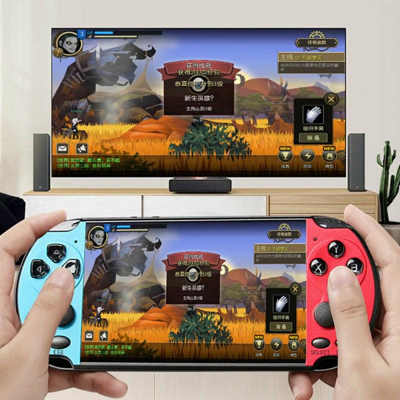 New Handheld Game Console 5 1 inch 8G 128-bit Game Console Built-in 10000 Games For psp gamecameravideoe-book game download