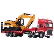 Jingbang 1:50 бортовой прицеп грузовик игрушка сплав трейлер ролик экскаватор грузовик серии игрушки, детские подарки