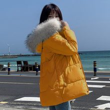 new winter Big fur collar parka women down cotton jacket and thicker for Hoodies Loose Parka