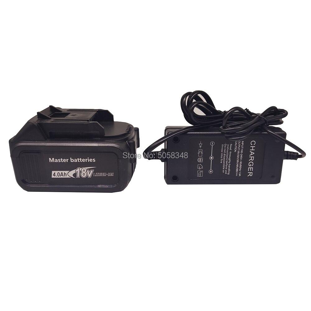 Compatiable 18V 4000 Mah Accu Met Een Lader Voor Oplaadbare Snoerloze Gereedschap