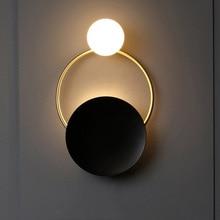 Post Modern Wall Light LED Bedside Wall Sconce Nordic Fashion Elipse Wall Lamp Corridor Hall Way Bedroom Wall Lights