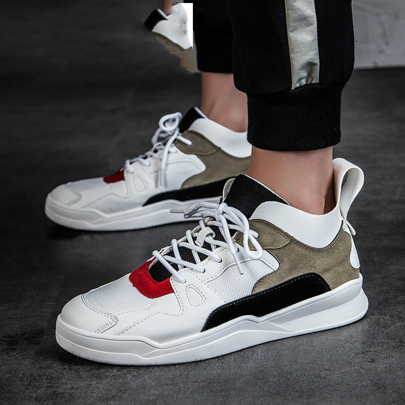 QWEDF 2019 Summer high top superstar shoes men luxury brand sneakers white designer casual shoes hip hop leather shoes men DP-26 image