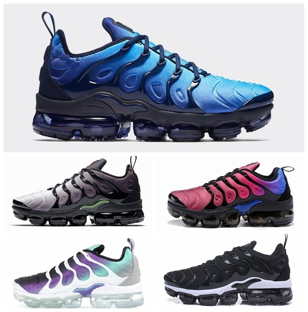 $ US $33.39 New brand signal Air Plus Men Shoes Tn Plus Vapormax In Metallic White Silver Colorways Mens Shoes For Running women Sneakers