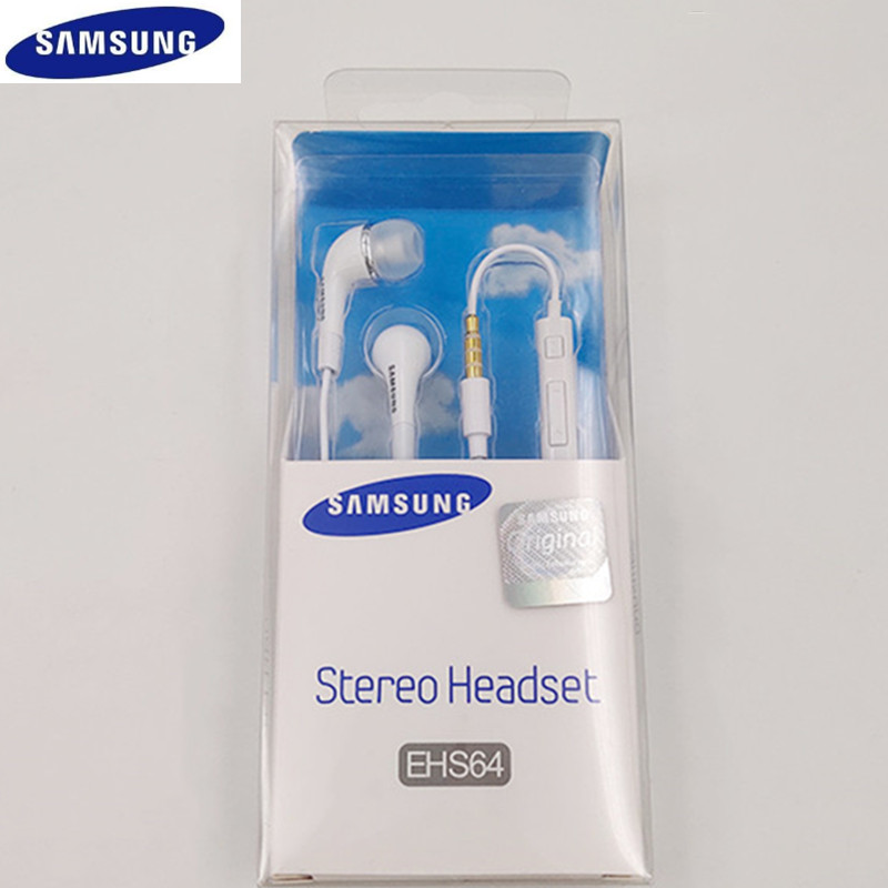 Original Samsung 3.5MM Earphone <font><b>EHS64</b></font> Headsets Wired with Microphone For Galaxy S3 S6 S8 for Android IsoPhones In ear Earphones image