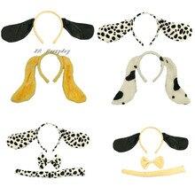 Costume Ear-Headband Dog-Dalmatian Birthday Cosplay Animal Party-Dog Christmas Halloween