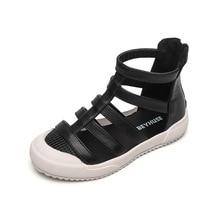2019 Fashion Genuine Leather Girls Roman Sandals Handmade Baby Kids Shoes Princess Non-slip Children