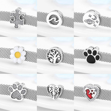 High quality clip beads 925 sterling silver heart and round charms Fit original reflections charms bracelet jewelry