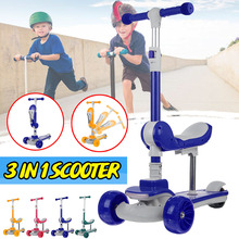 Kids Scooter Foldable and Adjustable Height Lean to Steer 3 Wheel Scooters for Toddler