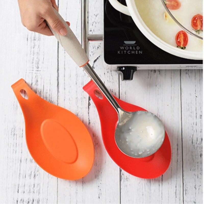 Rest-Pad Kitchen-Accessory Multipurpose Food-Grade Spoon Put-Mat High-Temperature-Resistant